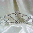 Bride, bridesmaid Headband Wedding Tiara sweetheart Crystal Rhinestones Regal 554