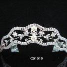 Bride, bridesmaid Radiant Regal Wedding Tiara Pearl Crystal Rhinestones Headband 1091