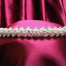 Bride, bridesmaid Wedding Alloy Tiara Crystal Pearl Rhinestones Headband 5933