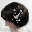 Bride, bridesmaid Wedding Elegant Alloy Hair Comb,Floral Crystal Rhinestones Tiara 1314