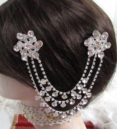 Bride, bridesmaid Wedding Elegant Alloy Hair Comb Pin,Sparkle Crystal Rhinestones Clip #1