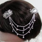 Bride, bridesmaid Wedding Elegant Alloy Hair Comb,Cute Butterfly Crystal Rhinestones Clip #1570
