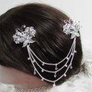 Bridal Tiara ,bridesmaid Wedding Silver Comb,Butterfly Crystal Rhinestones Bride Clip #1586