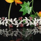 Bridal Headband ,Bridal bridesmaid Wedding Tiara , Serpent Red Rhinestones Bride tiara  732