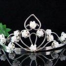 Bridal Headpiece,Bridesmaid Wedding Tiara,Porcelain Floral Bridal Tiara 4881w