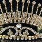 Elegant Golden Bride Bridal Headpiece,Huge Bridesmaid Wedding Tiara,Bridal Tiara 524g
