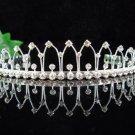 Chevron Silver Bride Bridal tiara ,Bridesmaid Wedding Tiara,Bridal Tiara 839
