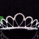 Silver Teardrop Bride Bridal tiara ,Bridesmaid Wedding Tiara,Bridal Tiara 2418