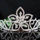 Floral Silver Bride Bridal tiara ,Bridesmaid Wedding Tiara,Bridal Tiara 3705