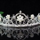 Bride Bridal Silver Pearl Regal Bridesmaid Wedding Tiara,Bridal Tiara 4266