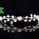 Bride Bridal Silver Pearl headband Bridesmaid Wedding Tiara,Bridal Tiara #3