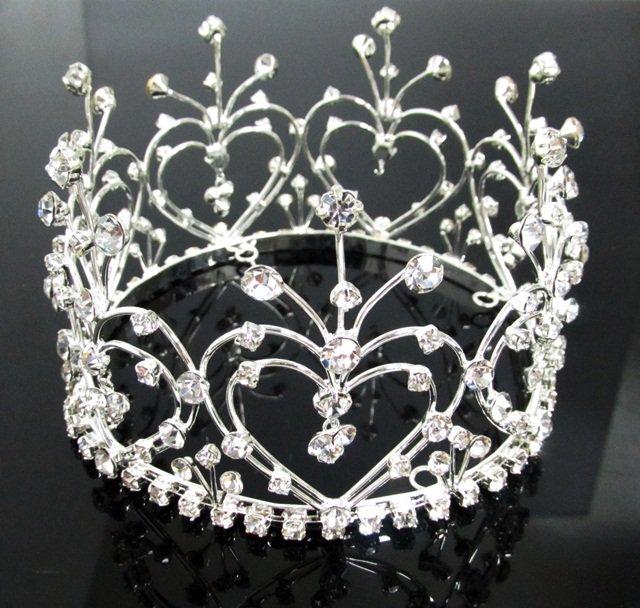 Elegant Pageant Bridal Tiara Wedding Princess Rhinestone Crown Headband,Bridal Tiara 4335