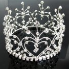 Elegant Pageant Bridal Tiara Wedding Princess Rhinestone Crown Headband,Bridal Tiara 4335