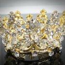 Pageant Bridal Tiara Wedding Princess Rhinestone Golden Bridal Crown Headpiece,Bride Tiara 100g