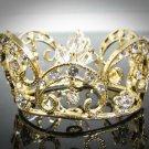 Bridal Tiara Wedding Rhinestone Golden Sweetheart Bridal Small Crown Headpiece,Bride Tiara 113g