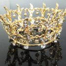 Bridal Tiara Wedding Rhinestone Golden Alloy Bridal Small Crown Headpiece,Bride Tiara 122g