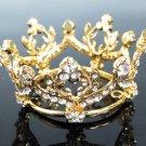 Bridal Tiara Wedding Rhinestone Golden Floral Bridal Small Crown Headpiece,Bride Tiara 190g
