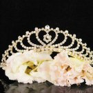 Bridal Wedding Rhinestone Tiara,Alloy Elegant Golden Vintage Bridal Headpiece ,Bride Tiara 3422g
