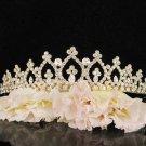 Bridal Wedding Rhinestone Tiara,Alloy Elegant Golden Vintage Bridal Headpiece ,Bride Tiara 7290g