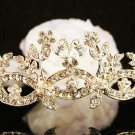 Bridal Wedding Rhinestone Tiara,Alloy Elegant Golden Vintage Bride Headpiece ,Bridal tiara 614g