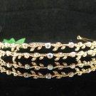 Bridal Wedding Rhinestone Tiara,Alloy Elegant Golden Floral Twin Bride Headband ,Bridal tiara 534g