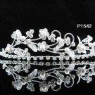 Bridal Wedding Tiara,Alloy Elegant Silver Floral Pearl Bride Headband ,Bridal tiara 1542S
