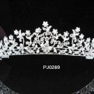 Bridal Wedding Tiara,Elegant Silver Crystal Floral Bride Headpiece ,Bridal tiara 289