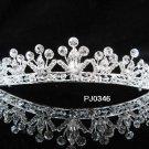 Bridal Wedding Tiara,Elegant Silver Crystal Pearl Swarovski Bride Headband tiara 346