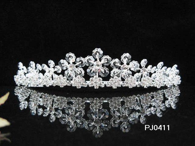 Wedding Tiara,Elegant Silver Crystal Queen Swarovski Bride Bridal tiara 411