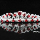Wedding Tiara,Elegant Princess Silver Red Swarovski Bride Bridal tiara 432r