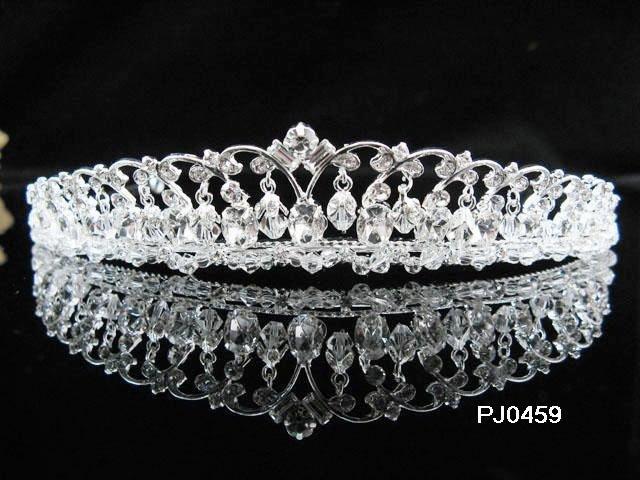 Sparkle Wedding Tiara,Elegant Princess Silver Swarovski Bride Bridal tiara 459