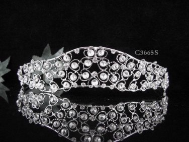 Sparkle Wedding Tiara,Elegant Princess Sweetheart Silver Rhinestone Bride Bridal tiara 3665s