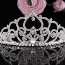 Floral Wedding Tiara,Elegant Princess Silver Alloy Rhinestone Bride Headpiece Bridal tiara 4892