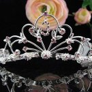 Alloy Floral Wedding Tiara,Elegant Princess Golden Rhinestone Bride Headband Bridal tiara 5261pu
