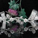 Pearl Floral Wedding Tiara,Elegant Princess Rhodium Rhinestone Bride Headband Bridal tiara 5117