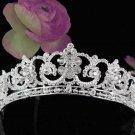 Stunning Wedding Tiara,Elegant Princess Silver Rhinestone Bride Headpiece Bridal tiara 5381