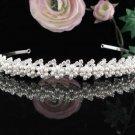 Stunning Wedding Tiara,Elegant Silver Rhinestone Pearl Bride Headband Bridal tiara 5933