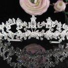 Stunning Wedding Tiara,Elegant Silver Rhinestone Pearl Bride Headpiece, Bridal tiara 6085