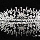Stunning Crystal Floral Wedding Tiara,Elegant Silver Rhinestone Bride Headpiece, Bridal tiara 684s