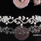 Stunning Serpent Crystal Wedding Tiara,Silver Rhinestone Pearl Bride Headband, Bridal tiara 874s