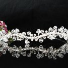 Stunning Serpent Crystal Wedding Tiara,Silver Rhinestone Bride Headband, Bridal tiara 4818cy