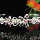 Alloy Daisy Rhodium Purple Crystal and Rhinestone Bridal Tiara ;Wedding regal 699pu