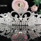 Sparkle Crystal Pearl Rhinestone Bridal Tiara ;Wedding regal 790pl