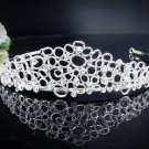 Vintage Crystal Bridal Tiara;Silver Alloy Rhinestone Wedding Headpiece Comb 1002