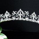 Vintage Crystal Bridal Tiara;Silver Alloy Rhinestone Wedding Headpiece Comb 1119