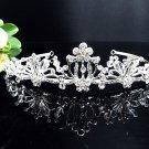 Elegant Crystal Bridal Tiara;Silver Alloy Rhinestone Wedding Headpiece Comb 1151