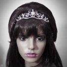 Crystal Bridal Tiara;Princess Silver Rhinestone Wedding Headband Comb 1111s