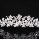 Bridal Tiara;Princess Silver Crystal Wedding Headpiece Comb 370