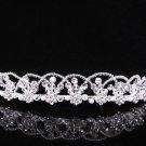 Princess Silver Crystal Wedding Headpiece,Bridal tiara,Comb 376