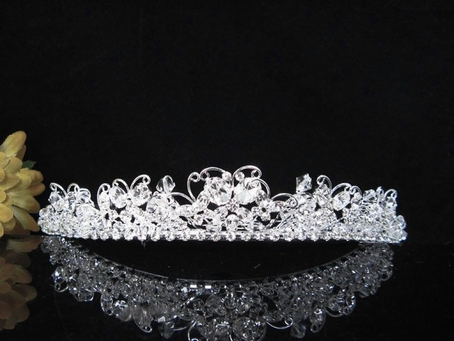 Crystal Wedding Headpiece ;Butterfly Silver Bridal Tiara,Crown 2243